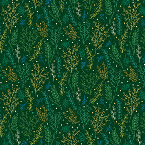 Folliage in Green - Cotton Fabric By The Yard
