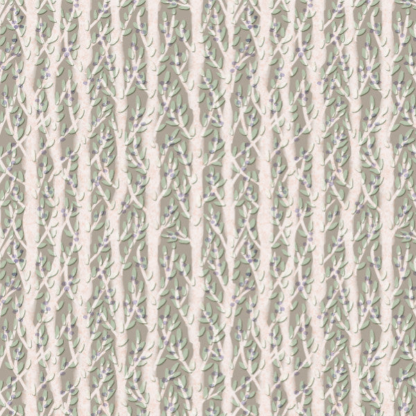 Forest Thicket in Beige - Cotton Fabric By The Yard