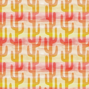 Faded Desert in Yellow and Orange - Cotton Fabric By The Yard
