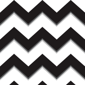 Chevron in Black - Cotton Fabric By The Yard