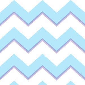 Chevron in Blue - Cotton Fabric By The Yard