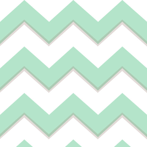 Chevron in Green - Cotton Fabric By The Yard