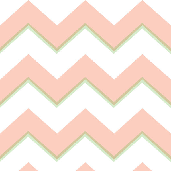 Chevron in Orange - Cotton Fabric By The Yard
