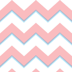 Chevron in Red - Cotton Fabric By The Yard