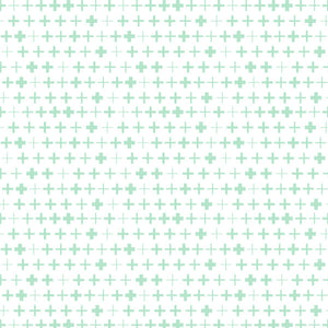 Plus in Green - Cotton Fabric By The Yard