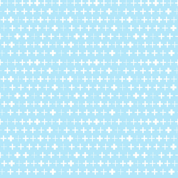 Plus Reverse in Blue - Cotton Fabric By The Yard