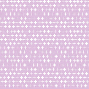 Plus Reverse in Purple - Cotton Fabric By The Yard
