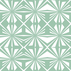 Pinwheel in Mint - Cotton Fabric By The Yard