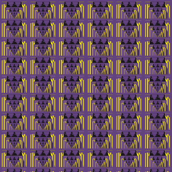 Optical in Purple - Cotton Fabric By The Yard