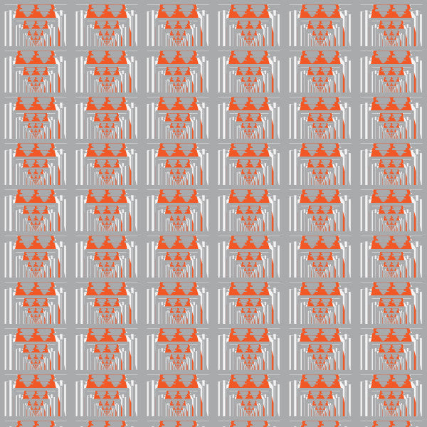 Optical in Gray - Cotton Fabric By The Yard