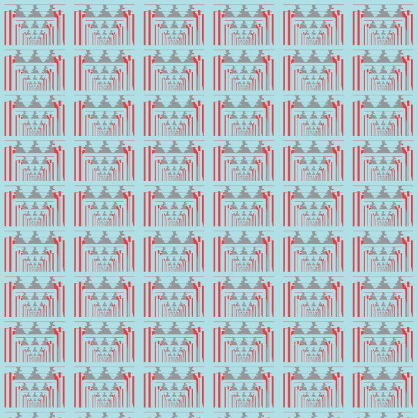 Optical in Baby Blue - Cotton Fabric By The Yard