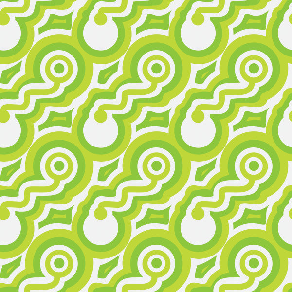 Circuits in Green - Cotton Fabric By The Yard