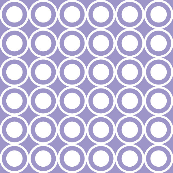 Circle in Purple - Cotton Fabric By The Yard