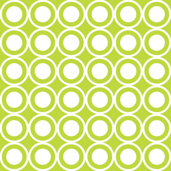 Circle in Green - Cotton Fabric By The Yard