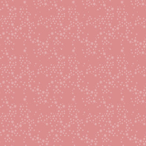 Snow Star in Pink - Cotton Fabric By The Yard