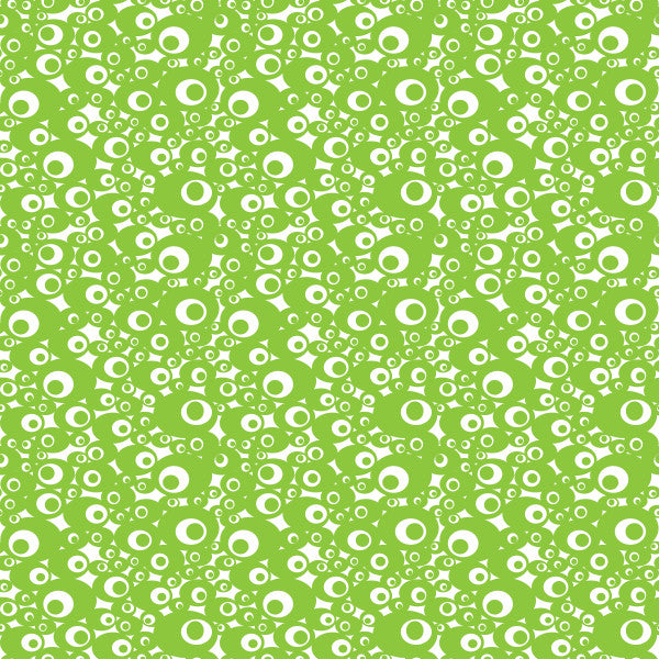 Aura in Green - Cotton Fabric By The Yard