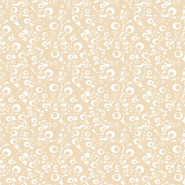 Aura in Cream - Cotton Fabric By The Yard
