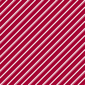 Candy Cane Lane in Holly Berry - Cotton Fabric By The Yard