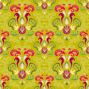 Hearth and Home in Mistletoe - Cotton Fabric By The Yard
