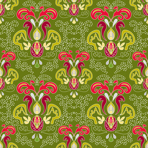 Hearth and Home in Pine - Cotton Fabric By The Yard