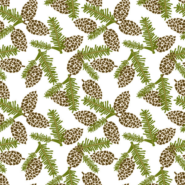 Pinery in Pine - Cotton Fabric By The Yard