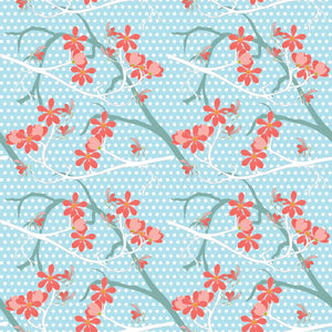 Branching Out in Aquamarine - Cotton Fabric By The Yard