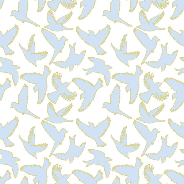 Flight in Sky - Cotton Fabric By The Yard