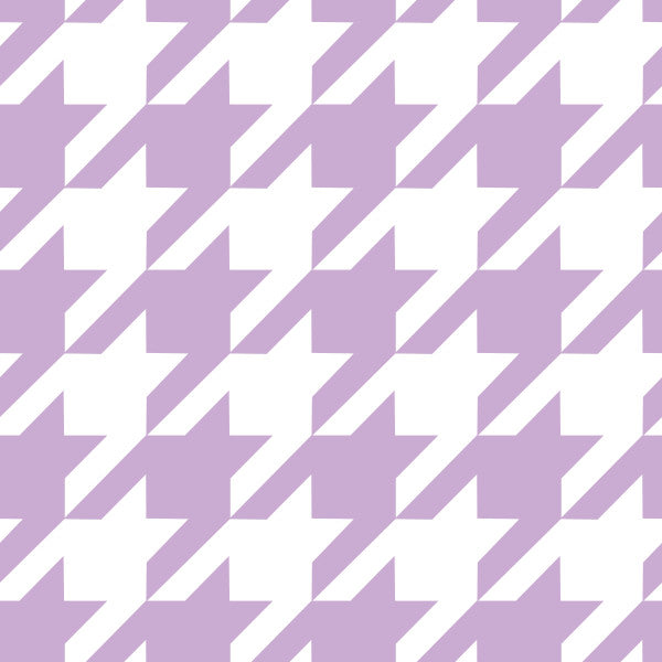 Houndstooth in Blossom - Cotton Fabric By The Yard