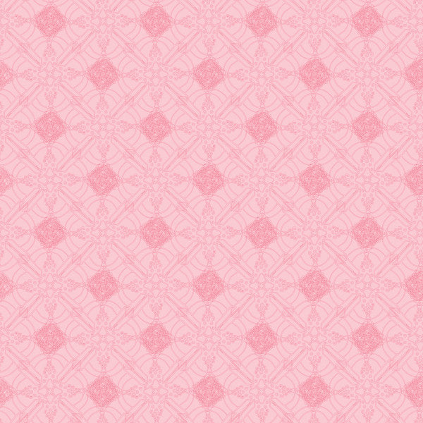 Quartrefoil in Pink - Cotton Fabric By The Yard