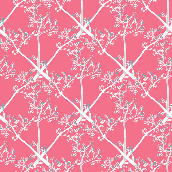 Branches in Pink - Cotton Fabric By The Yard