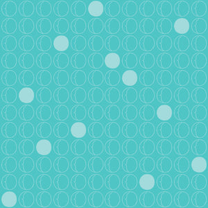 Dots in Blue - Cotton Fabric By The Yard