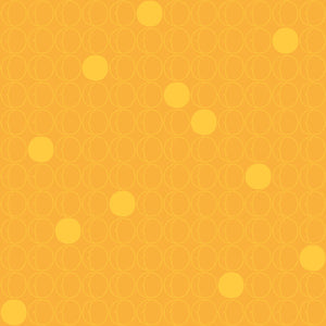 Dots in Orange - Cotton Fabric By The Yard