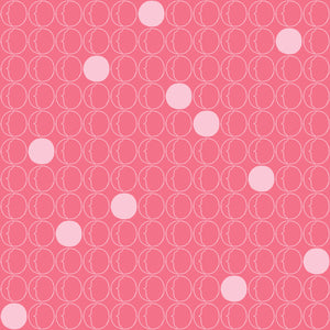 Dots in Pink - Cotton Fabric By The Yard