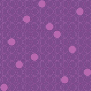 Dots in Purple - Cotton Fabric By The Yard