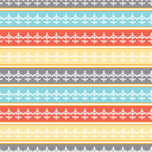 Ombre Stripe in Fiesty - Cotton Fabric By The Yard