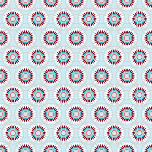 Burst in Cool - Cotton Fabric By The Yard