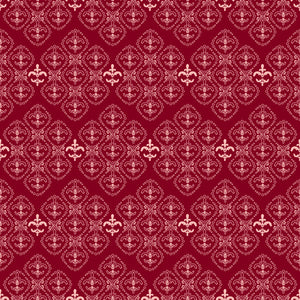 Damask in Cherry - Cotton Fabric By The Yard