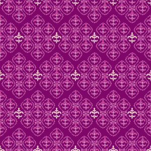 Damask in Heather - Cotton Fabric By The Yard