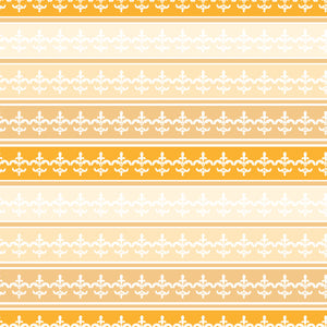 Ombre Stripe in Tangerine - Cotton Fabric By The Yard