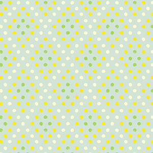 Citrus Dots in Green - Cotton Fabric By The Yard