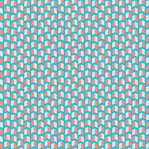 Dapper Bolts in Party Blue and Pink - Cotton Fabric By The Yard