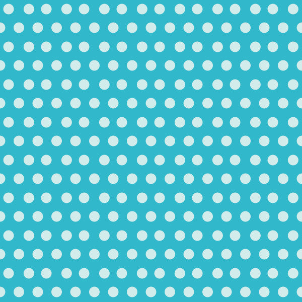 Smooth Jots in Party Blue - Cotton Fabric By The Yard