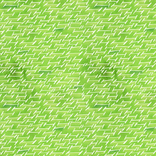 Broken Fences in Grassland - Cotton Fabric By The Yard