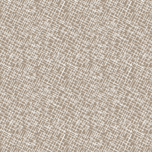 Crosshatch in Stone - Cotton Fabric By The Yard