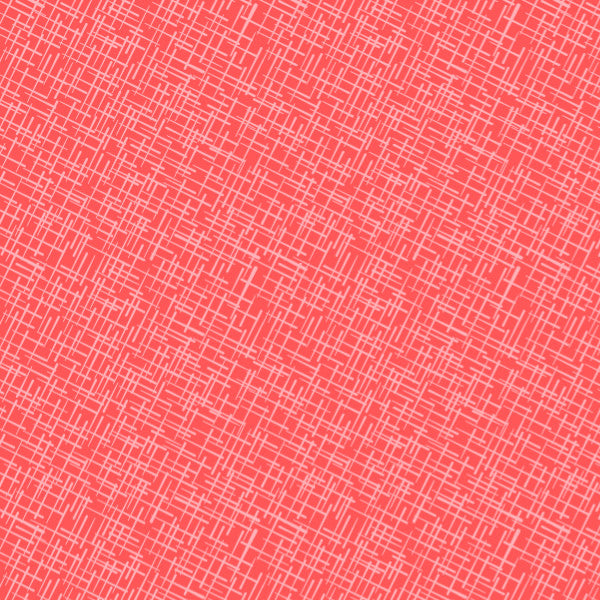 Crosshatch in Warm - Cotton Fabric By The Yard