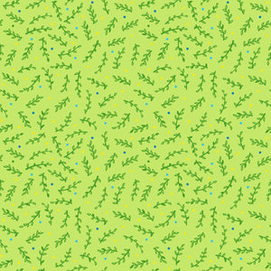 Leafy Confetti in Cool - Cotton Fabric By The Yard
