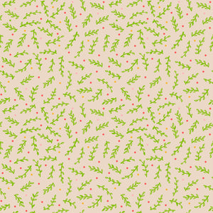 Leafy Confetti in Warm Afternoon - Cotton Fabric By The Yard
