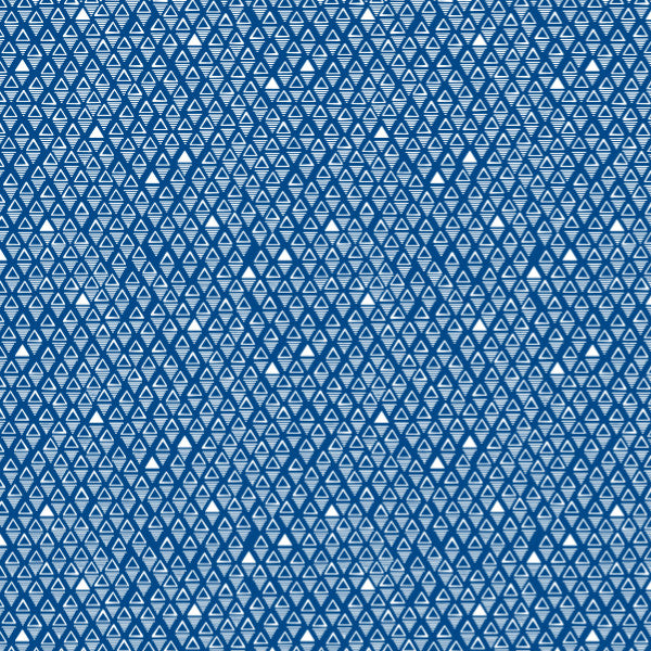 Reflections in Cobalt - Cotton Fabric By The Yard