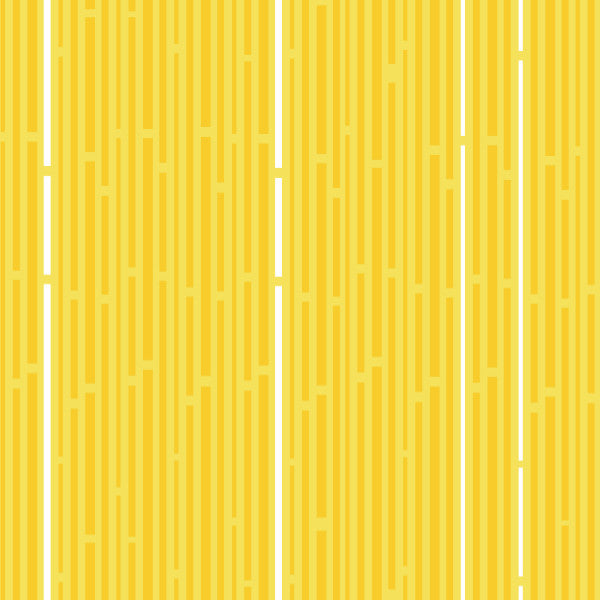 Siesta Stripes in Yellow - Cotton Fabric By The Yard