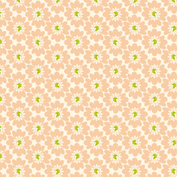 Bundles of Blooms in Blush - Cotton Fabric By The Yard